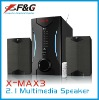 2.1 multimedia speaker with USB/SD / FM/Remote Control