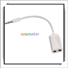 3.5mm Headphone Splitter Adapter For iPod For iPhone MP3