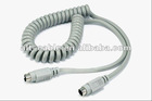 s-video mini din 4-pin coiled rca cable