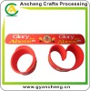 New fashion slap snap silicone rubber bracelets AC98689