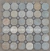 Mixed Slate and Quartz Garden Mosaic / Paving Stone