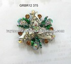 stylish rhinestone brooch with pin