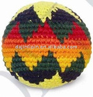 hand knitting yarn ball
