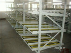 JS ABS skate roller sliding racks, Gravitational rack, Supermarket storage rack