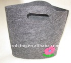 100% Colored Plain Wool Felt Shopping Bags
