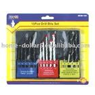 15pc drill bits set asst