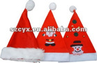 top quality santa claus plush christmas cap for promotion