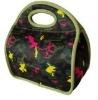 fashionable neoprene lunch bag with handle