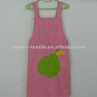 Canvas Pear Printed Apron Fabric with Pocket