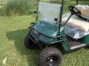 Golf cart brush guard for E-Z-Go