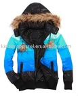lady fur trim hooded down coats