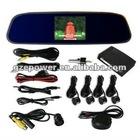 4 tips TFT LCD with camera car parking sensor/car rearview sensor