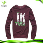 Mens pullover sweatshirt without hood