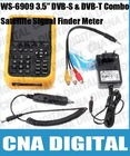 "SATlink WS-6909 3.5"" DVB-S & DVB-T Combo Satellite Signal Finder Meter"