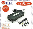 The best quality and low price Manual adjustable 120W Universal AC Laptop Adapter with LED display