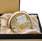 Pocket Cosmetic Mirror with Crystal