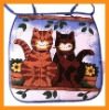 printed cats printed cotton seat chair pad