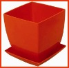 Plastic Garden Flowerpot with Tray