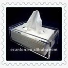 clear acrylic tissue box