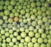 Chelation resin for membrane caustic soda