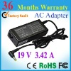 low price 19V 3.42A ac wall charger for Toshiba PA3467E-1AC3 laptop