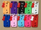 Cute 3D BOW Hello Kitty Silicone Case FOR Apple iPod Touch 5 5th 5G