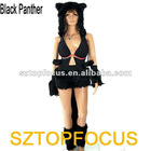 Furry Cosplay Costume Mascot Dress Black Panther