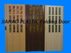 PS glass pvc folding door