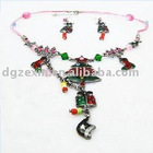 Colorful christmas jewelry set