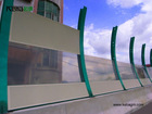 keba 1.3mm~10mm polycarbonate highway noise barrier