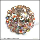 Wholesale Brown Crystal Charms Ball Spacer Pave Beads 110016