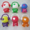 Lovely monkey shape silicone usb case for promotion and memory
