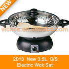 Electric Wok Set S/S (KL12-51SW)