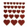 2011 Newest EVA Foam Glitter Heart Stickers