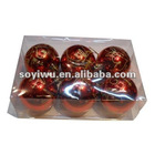 Christmas gifts wholesale from yiwu market with glass bell christmas ornament #1240395