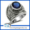 Moive jewelry Mission Impossible Ghost Protocol Silver Rings With Blue Crystal