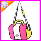 new design 3d bag 2D cartoon HAND BAG LYCN010