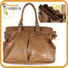 Stripes fashion tan leather handbags for men