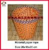 Eco-friendly fashion decorative cheap paper craft waste basket