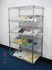 Slanted Metal Wire Book Display Rack