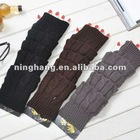 fashion hot sale latest lady acrylic hand fingerless knitted winter gloves