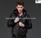 Stylish Stand Collar Cotton Padding Short Waterproof Men Jacket
