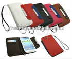 New Luxury Flip Leather Case Cover For Samsung Galaxy S3 SIII GT- i9300 Black