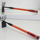 Multi-fuction bow rake & hoe with telescopic handle