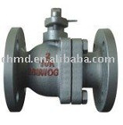 Two Pieces Type Cast Iron Ball Valve Flange End