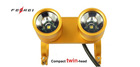 twin-head rechargeable bicycle front lightBL200X