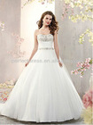 A-line Organza long tail grecian style wedding dresses NSW5028