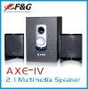 2.1 multimedia speaker with USB/SD / FM/Remote Control