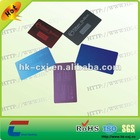 different colors stainless steel cards
