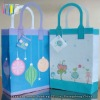 Simple style white cardboard handmade shopping bag